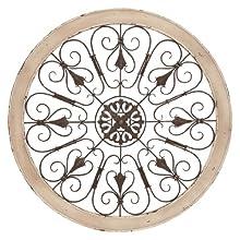 Benzara 52734 Metal Wood Wall Panel Decor