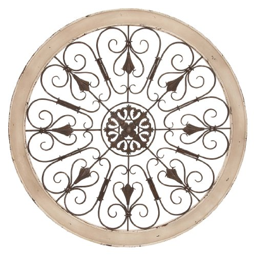 Deco 79 Metal Wood Wall Panel, 36-Inch