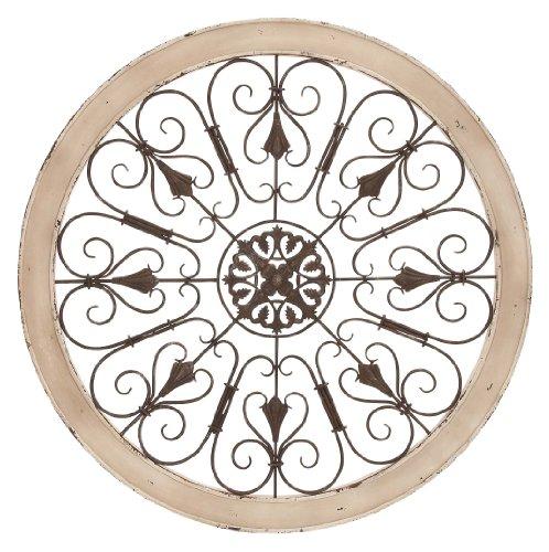 (Benzara 52734 Metal Wood Wall Panel Decor)