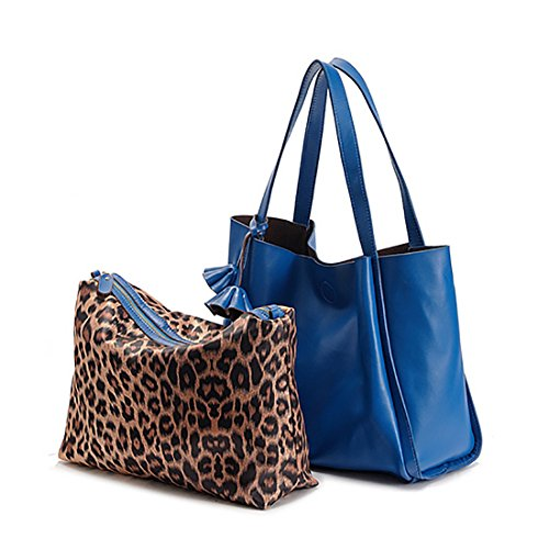 Handbags Bag Capacity Cow Shoulder Bag Large Plover Leather Women SvRnqp