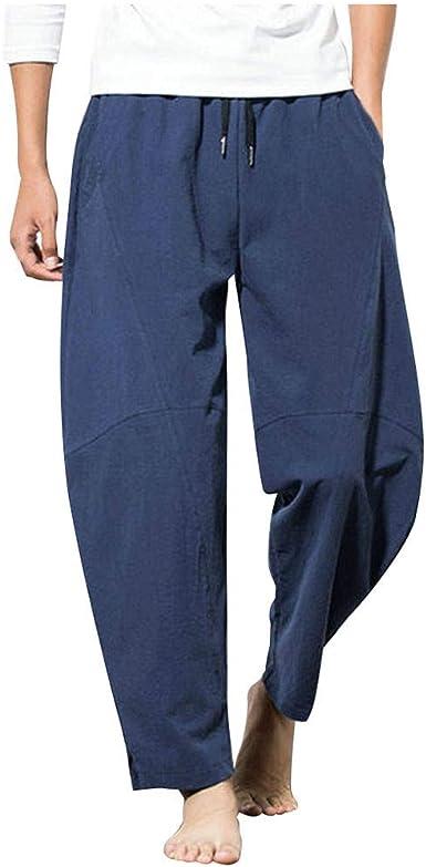 Pantalones Hombre Verano Casuales Moda Deportivos Algodón y ...