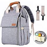 Diaper Bag,Baby Bag,Diaper Bag Backpack,Baby Diaper Bag for Girls and Boys,Multi-Function,Waterproof,Large Capacity, Stylish and Durable (Grey)