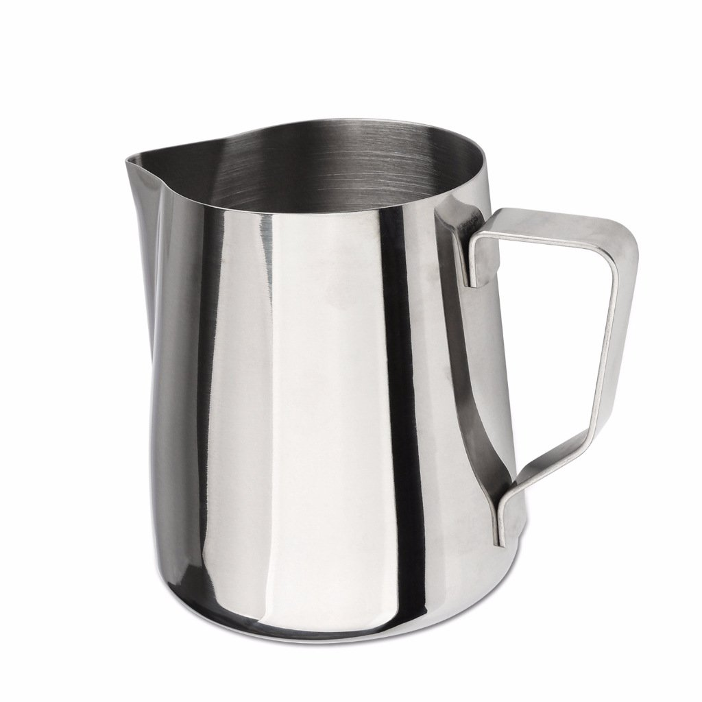 Domini Milk Frothing Pitcher Stainless Steel Metal 12 20 32 oz -For Milk Frothers, Espresso Cappuccino Coffee, Creamer,Steaming,chef,motta