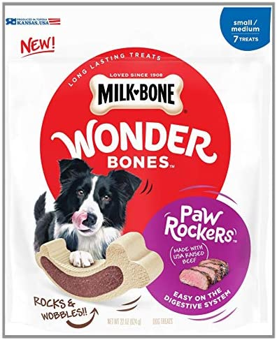 Milk-Bone Wonder Bones Paw Rockers Long Lasting Dog Treats