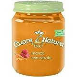 Cuore di Natura - Omogeneizzato Manzo Con Carote Bio - Confezione da 6 vasetti x 110 g