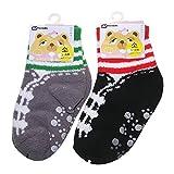 Children Non-slip Warm Fuzzy Soft Thick Socks 2-Pack (4-6Y)