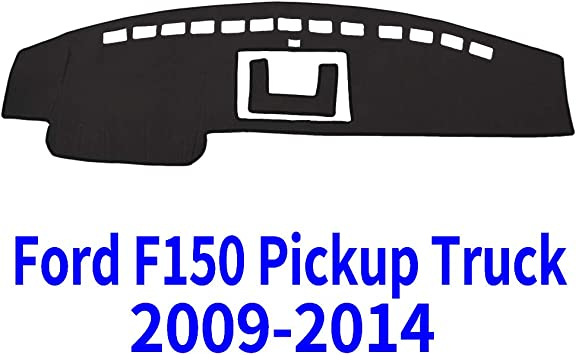 Carpet DashBoard Cover Fits 2009-2014 Ford F-150 Pick up Truck Custom Fit Dash Cover Mat Charcoal