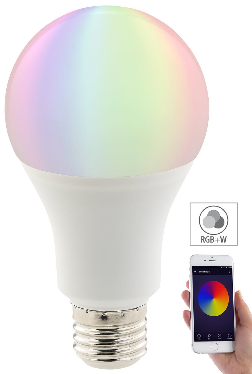 Luminea LED RGB Birne: 3er-Set WLAN-LED-Lampen, Amazon Alexa ...