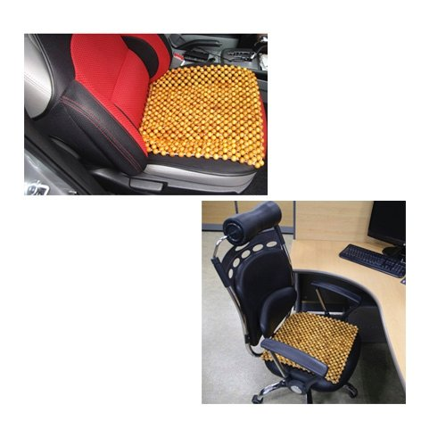 Phytoncide Village 100% Handmade LaoCAI Hinoki Ball Seat Cushion Natural Acupressure Massage Phytoncide BreathableEffect Summer Cool Chair Seat Cushion by Phytoncide Village (Image #3)