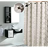 terry cloth shower curtain. Silver Dots Waterproof Thicken Jacquard Cloth Shower Curtain Amazon com  Terrycloth Curtains Hooks Liners