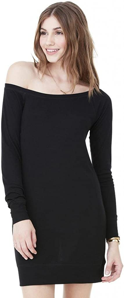 Yoga Clothing For You Ladies Lightweight Wide-Neck Sweater Dress