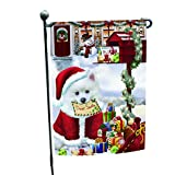 Dear Santa Mailbox Christmas Letter American Eskimo Dog Garden Flag For Sale