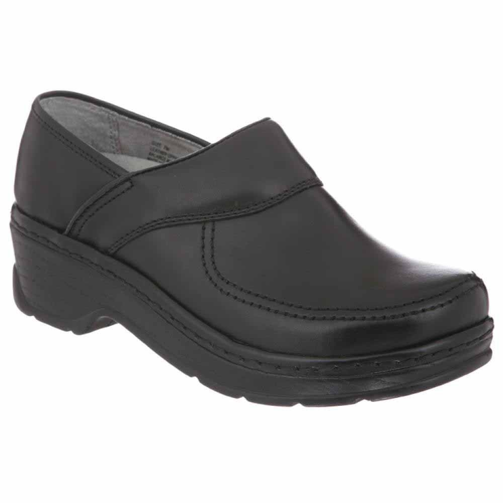 Klogs USA Women's Sonora Closed Back Clog,Black Smooth,9.5 W US