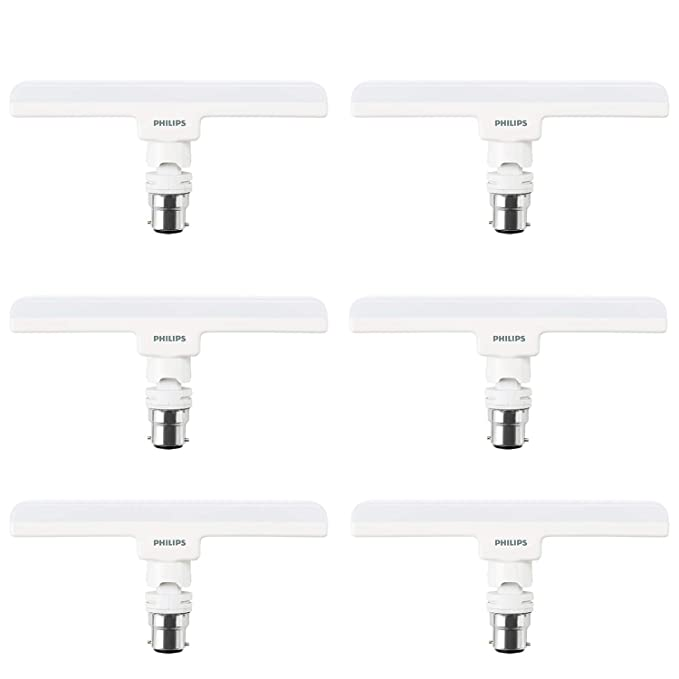 Buy Philips 10W LED Lamp Base B22 - Linear - (Crystal White, Pack of 6) Online at Low Prices in India - Amazon.in