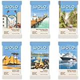 WOLO Protein WanderBar Variety Pack, All Natural,  High Protein, Low Sugar, High Fiber, Gluten Free, Soy Free, Antioxidant Blend Protein Bar, (Pack of 6 Bars)