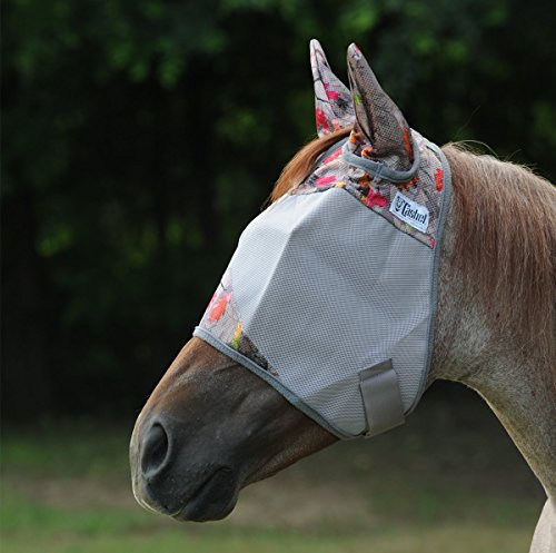 Cashel Hot Leaf Horse Fly Mask Standard and with Ears, Sizes: Horse or Arab/Cob/Small Quarter Horse (Horse, with Ears)