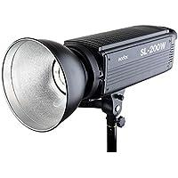 Godox SL-200W 200WS 5600K White Version LCD Panel LED Video Light Continuous Output Bowens Mount Studio Light + CEARI MicroFiber Cloth