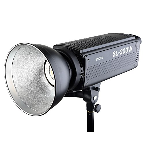 Godox SL-200W 200Ws LED Continuous Video Light, 5600K Color Temperature, LCD Panel Display, Bowens Mount for Studio Light Photography + CEARI Microfiber Cloth