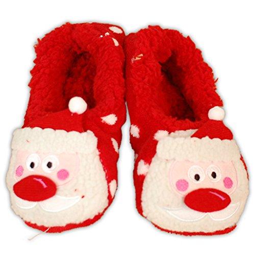 ni zees de y as mujeres Co de Zapatillas para Santa Navidad multicolor Spotty 3D 6x0tSXx1gq