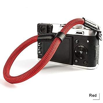 Black Camera Wrist Strap Hand Strap Compatible for Sony A7III A6000 A6300 A6500 Fujifilm X-T30 X-T20 X-T3 X-T2 X100F ILCE M10 Mirrorless Cameras Adjustable Safety Rope