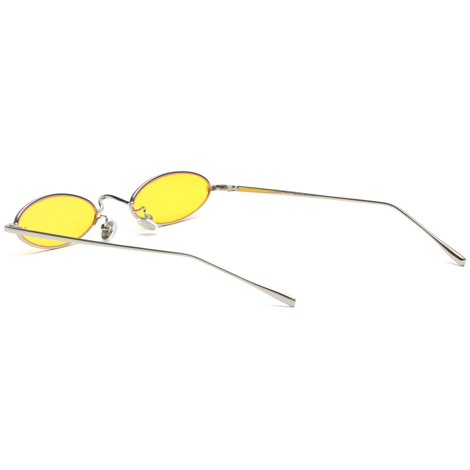 Vintage Cat Eye Sunglasses for Women Ultralight Metal Frame Retro Small Shades