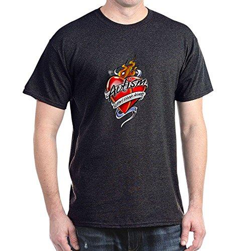 CafePress Autism Tattoo Heart - 100% Cotton T-Shirt