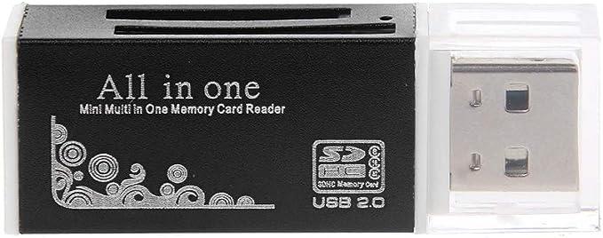 2 High Speed USB 2.0Micro T-Flash TF M2 Memory Card Reader SDHC Black LE
