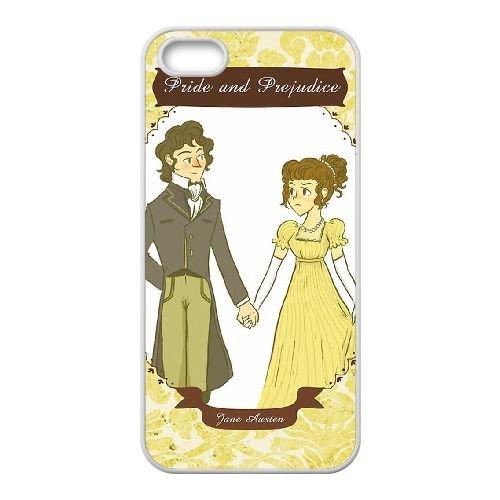Austen Happy coque iPhone 5 5S Housse Blanc téléphone portable couverture de cas coque EBDOBCKCO13243