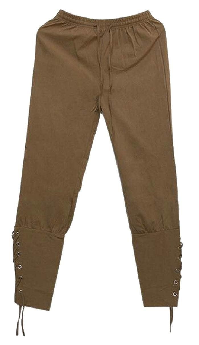 YIhujiuben Men/'s Casual Baggy Pants Drawstring Plain Loose Harem Pants