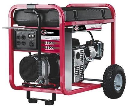 amazon com briggs stratton power products model 1654 5500 watt rh amazon com briggs and stratton 5500 generator specs briggs and stratton powerboss 5500 generator manual
