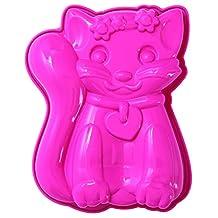 Pavoni FRT174 Platinum Silicone Sophia-Cat Mini Cake Mould, Pink
