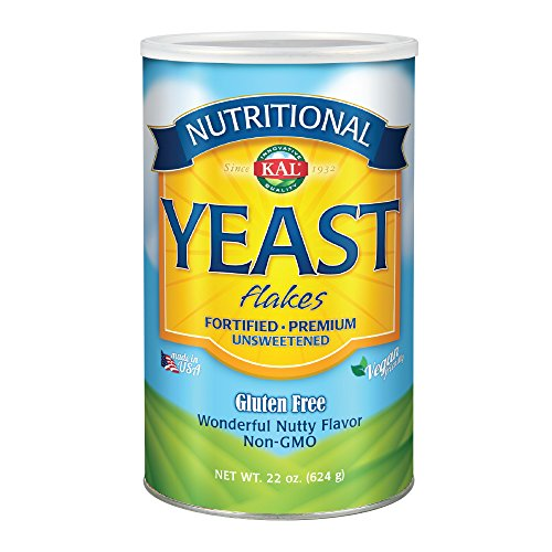 KAL Nutritional Yeast Flakes | Vitamin B12, Vegan, Non-GMO, Gluten Free | Unsweetened, Great Flavor, No Bitter Aftertaste | Great for Cooking | 22 oz (Best Nutritional Yeast Brand)