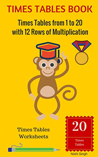 Times Tables Book Times Tables From 1 To 20 With 12 Rows Of
