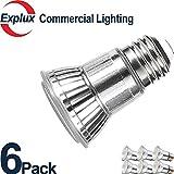 Premium Full-Glass Dimmable LED PAR16 LED Bulbs, 3000K Indoor/Outdoor 5W (50 Watts Equivalent) LED PAR16 Light Bulbs, Flood Light, 3000K Soft Warm White, (Pack of 6)