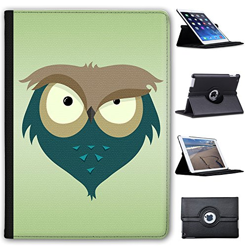 "Leather Case For Apple iPad 9.7"" 5th Generation (2017 Version) - Eyebrow Raising Little Owl"