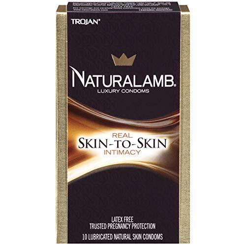 Naturalamb Natural Skin Condoms, Lubricated, 10 condoms (Pack of 2) by TROJAN