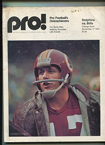 (1974 Miami Dolphins Vs Buffalo Bills Football Program MBX96)