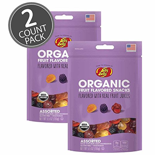 Jelly Belly Organic Fruit Snacks Assorted 5.5oz