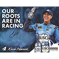 $69 » AUTOGRAPHED 2018 Kevin Harvick #4 Busch Beer Ford Fusion Team OUR ROOTS ARE IN RACING Monster Energy Cup Series Picture 9X11 Inch…