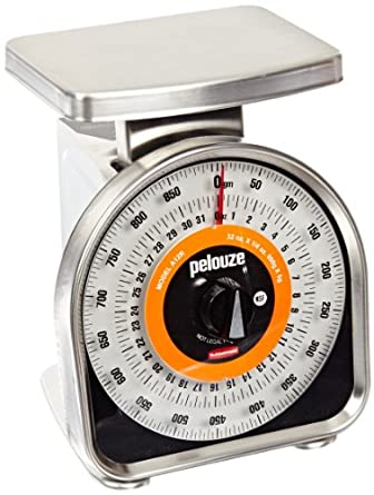 Rubbermaid Commercial FGA12R Pelouze Aluminum Y-Line Dual Read Mechanical Portion Control Food Scale