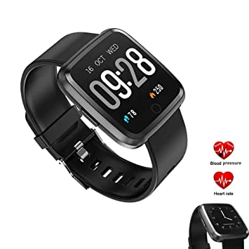 Wuer Smartwatch Impermeable Pantalla Táctil Fitness Tracker y ...