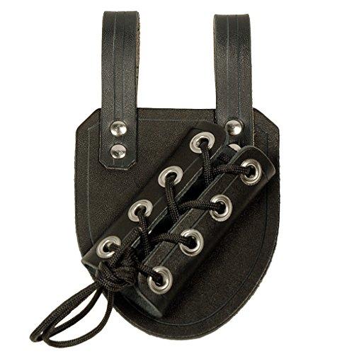 Medieval Dagger Frog Black Leather ()