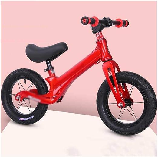 XRXX Bicicleta de Equilibrio para niños Ligeros Mango Giratorio de 360 ° Caminante para bebés Sin Pedal Neumático sólido Bicicleta de Entrenamiento para Caminar Red: Amazon.es: Hogar