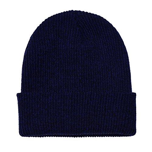 DonDon diseño invierno slouch mujereso de moderno Azul gorro y clásico Negro hombres beanie para pzZqpx6r