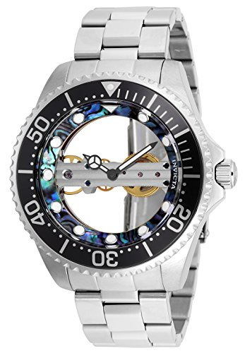 Invicta Women's Pro Diver Mechanical Watch with Stainless Steel Strap, Silver, 22 (Model: 26408)