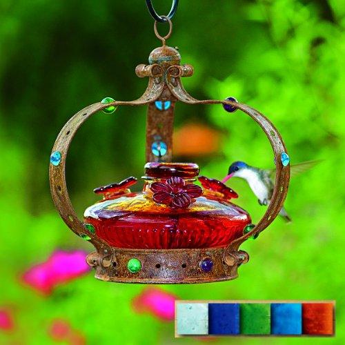 - Par-A-Sol - Camelot Bloom Hummingbird Feeder- Aqua - CAMBLOOMAQ