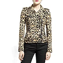 Tripp Gothic Punk Rocker Motorcycle Biker Wild Child Leopard Print Moto Jacket