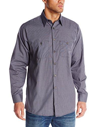 Red Kap Men's Micro-Check Uniform Shirt, Blue/Charcoal, Large ()