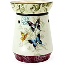 Original Candle Warmer - Electric 2-in-1 Fragrance Air Freshener - 2 Piece Ceramic Melt Tart Wax Cube Melter - Essential Oil Aroma Burner - Eliminate Odors - Tall Butterfly