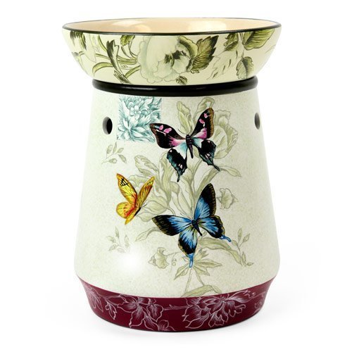 Original Candle Warmer - Electric 2-in-1 Fragrance Air Freshener - 2 Piece Ceramic Melt Tart Wax Cube Melter - Essential Oil Aroma Burner - Eliminate Odors - Tall Butterfly (Candle Melting Lamp)